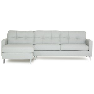 Mid-Century Modern Sectional Sofa with Left Arm Facing Chaise