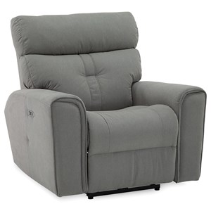 Contemporary Wallhugger Power Recliner with Power Headrest