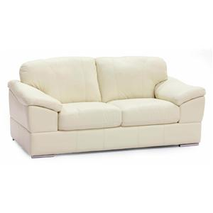 Casual Loveseat with Pillow Arms