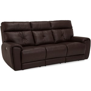 Contemporary Sofa Power Recliner w/ Power Headrest
