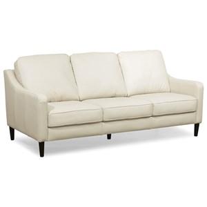 Modern Leather Slope Arm Sofa