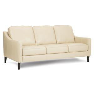 Modern Leather Slope Arm Sofa