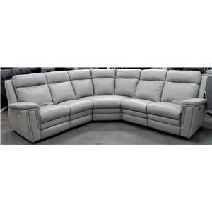 5 Piece Leather Reclining Sectional