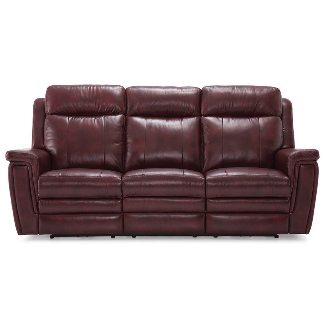 Asher Sofa Power Recliner w/ Pwr HR & Lumbar by Palliser at Jordan's Home Furnishings