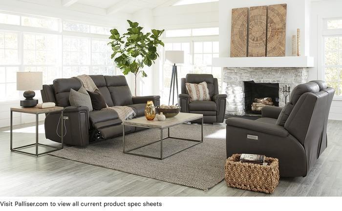 Asher Sofa Power Recliner w/ Pwr HR & Lumbar by Palliser at Stoney Creek Furniture