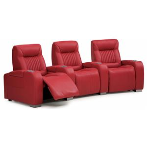 Contemporary Power 3-Piece Theater Seating with Cupholders