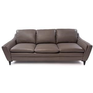 Contemporary Sofa with Interior Arm Padding