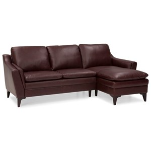 Contemporary 2 Piece Sectional with Right Hand Facing Chaise