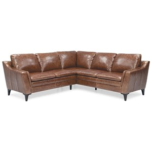 Contemporary 2 Piece Sectional with Interior Arm Padding