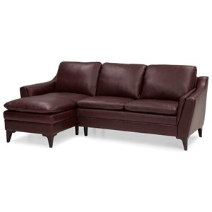 Contemporary 2 Piece Sectional with Left Hand Facing Chaise