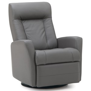 Contemporary Swivel Glider Recliner with Track Arms