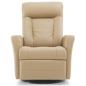 Contemporary Swivel Glider Power Recliner with USB Ports