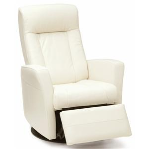 Swivel Glider Recliner with Defined Headrest and Track Arms