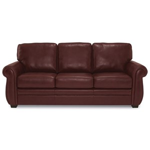 Traditional Sofa with Rolled Arms