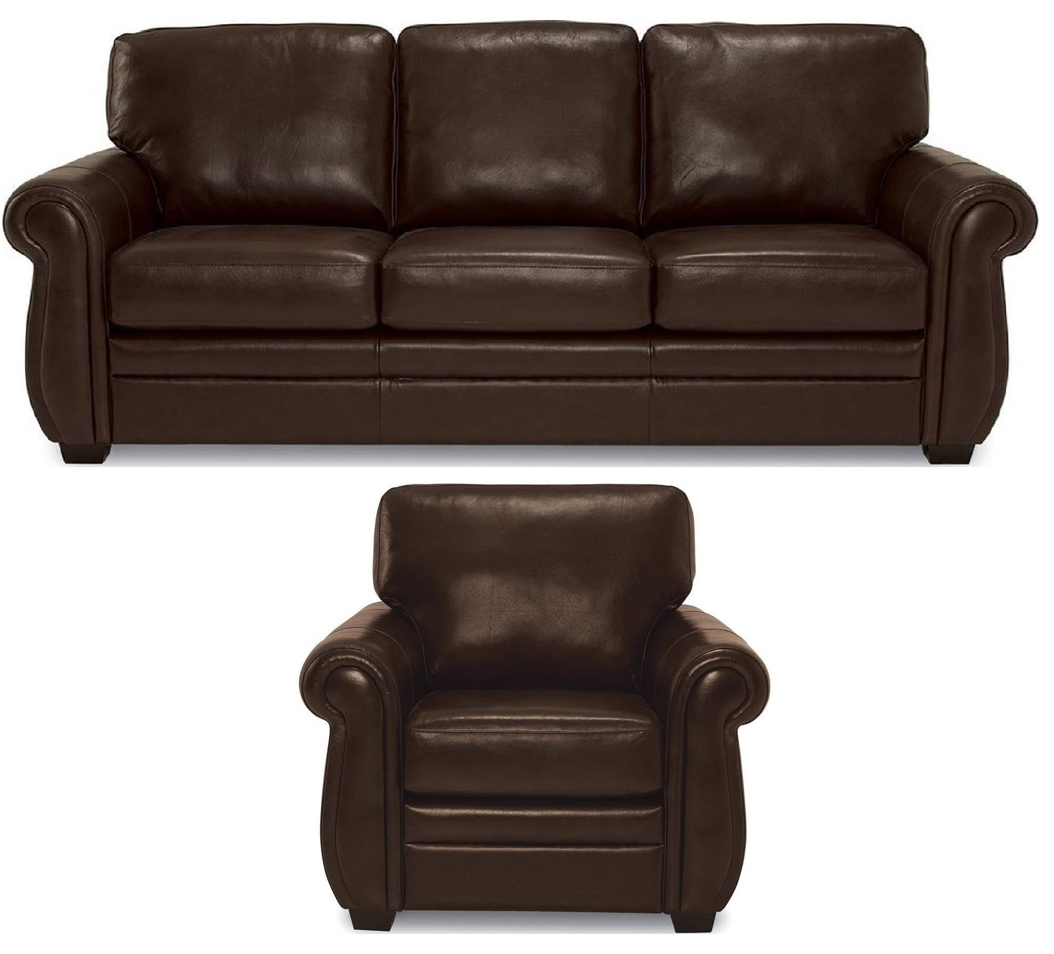 Parker II Leather Sofa & Chair by Rockwood at Bennett's Furniture and Mattresses