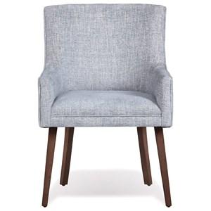 Arch Arm Chair in Carolina Blue Fabric
