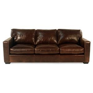 Leather Sofa w/ Track Arms
