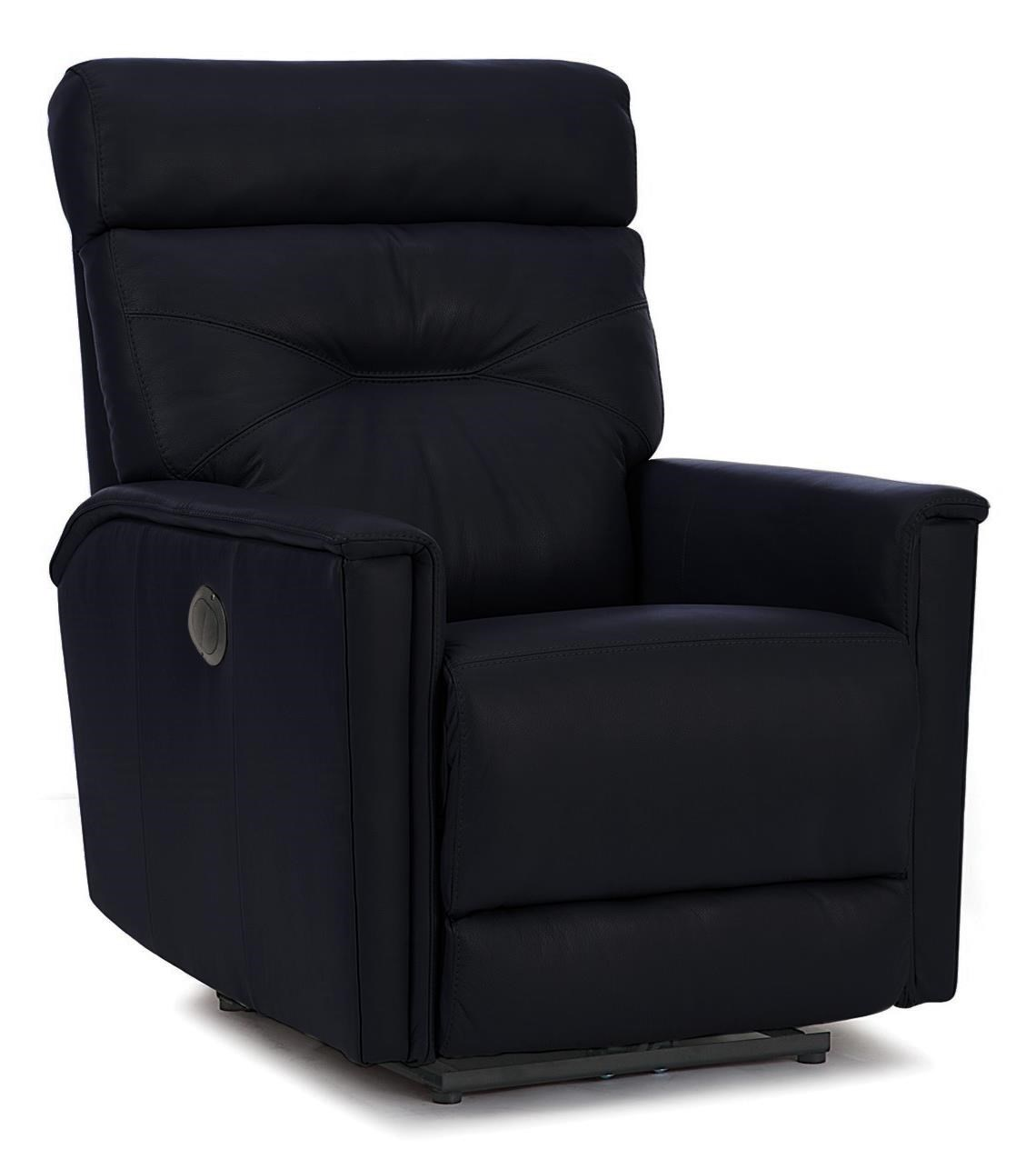 Contemporary Power Swivel Glide Recliner w/ Track Arms