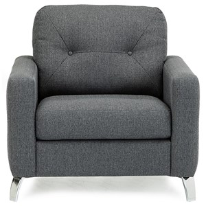 Modern Chair with Tufts on Seat Back