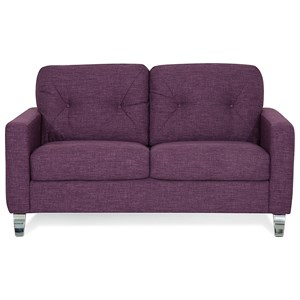 Modern Loveseat with Tufts on Seat Back