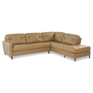 2PC Contemporary Leather Sectional