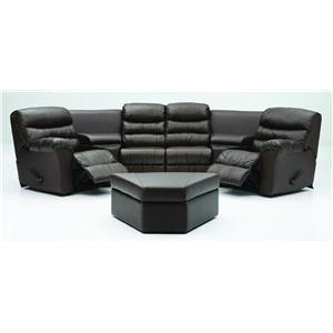 Corner Home Theater Seating Configuration E