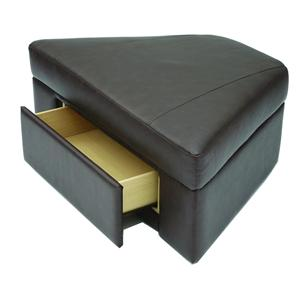Home Theater Wedge Storage Ottoman