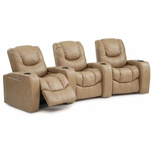 Three Piece Power Reclining Home Theater Sectional
