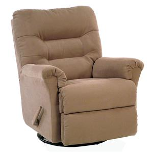 Swivel Rocker Recliner with Channel-Tufted Back