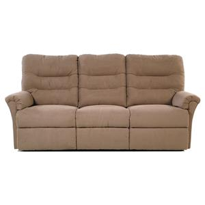Sofa Recliner with Channel-Tufted Back