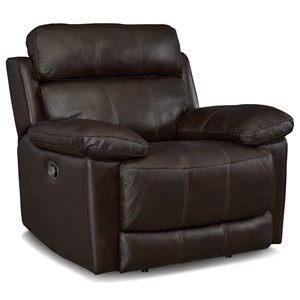 Casual Wallhugger Power Headrest Recliner with USB Ports