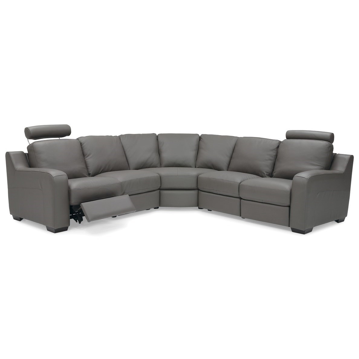 Flex 5-Seat Reclining Sectional Sofa by Palliser at Jordan's Home Furnishings