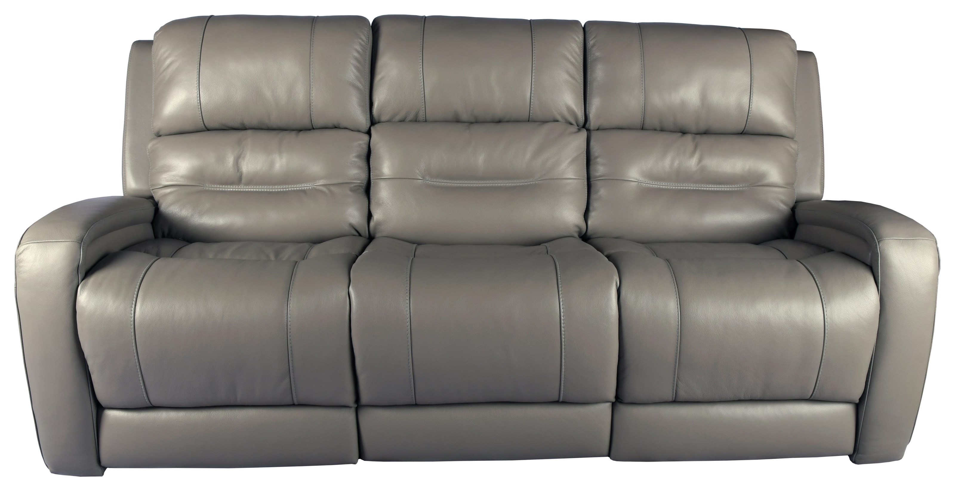 Frazer Leather Reclining Sofa by Rockwood at Bennett's Furniture and Mattresses