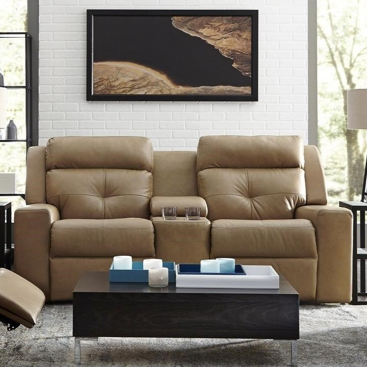 Grove Console Loveseat Power Recline by Palliser at Jacksonville Furniture Mart