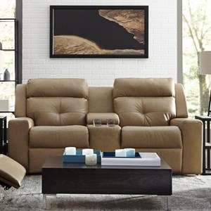 Power Reclining Console Loveseat with Power Tilt Headrest and USB Charging Ports