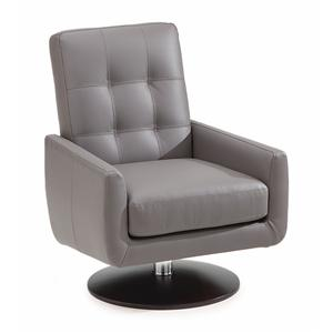 Contemporary Swivel Chair with Double Needle Topstitching