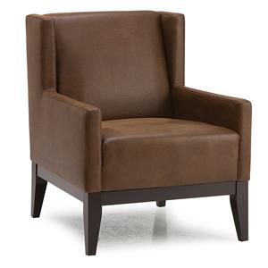 Contemporary Wing-Back Accent Chair w/ 2 Pillows