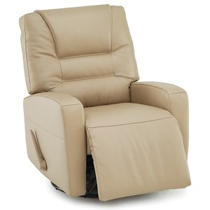 Contemporary Power Swivel Glide Recliner with Track Arms