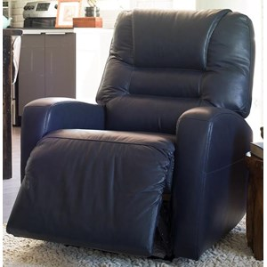 Contemporary Power Rocker Recliner with Track Arms