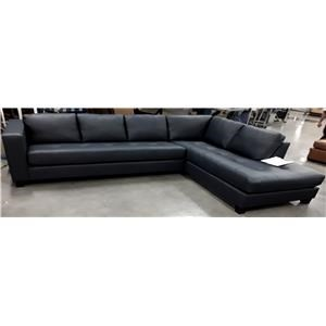 Leather Sofa/Chaise Sectional-