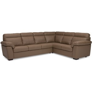 Casual 2 Piece Sectional with Left Hand Facing Sofa