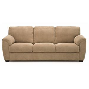 Casual Sofa with Sloped Pillow Arms