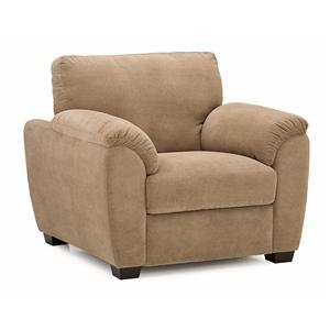 Casual Chair with Sloped Pillow Arms
