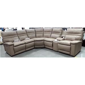 6 Piece Leather Reclining Sectional