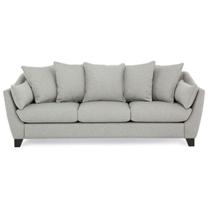 Transitional Scatterback Sofa with Flared Arms