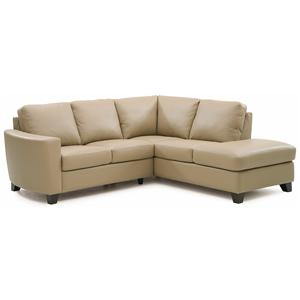 Contemporary 2-piece Sectional with RAF Chaise
