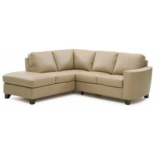 Contemporary 2-piece Sectional with LAF Chaise