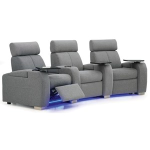 Reclining Home Theater Searing with Cup Holders