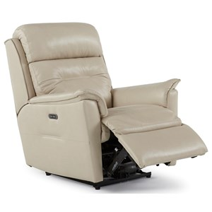 Contemporary Power Rocker Recliner with Power Headrest