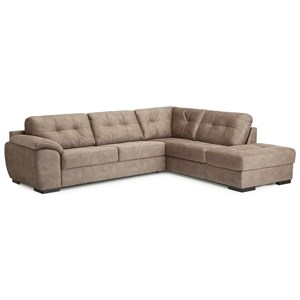 Contemporary 4 Seat Sectional with Right Hand Facing Chaise